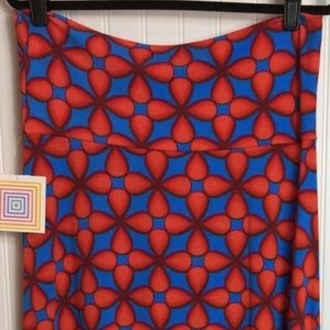 NWT LuLaRoe Maxi large blue and red